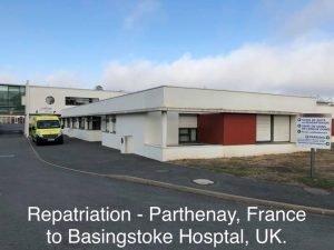 Medical repat france to UK